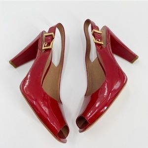 🌺J Vincent Heels Red Size 10